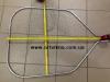 Подсак рыболовный большой алюминиевый с кордовой нити